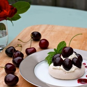 Cheeky Cherry Pavlovas