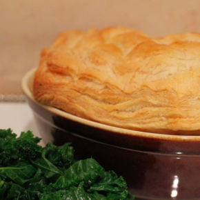 Chestnut, Mushroom & Red Onion Pie