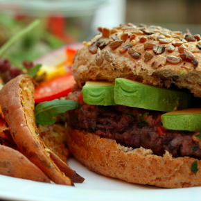Chili and Lime Black Bean Burgers
