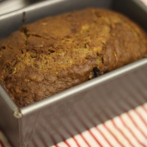 Banana, Chocolate, and Courgette Loaf