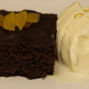 Stem Ginger Brownies