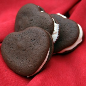 Chocolate and Marshmallow Whoopie Pies