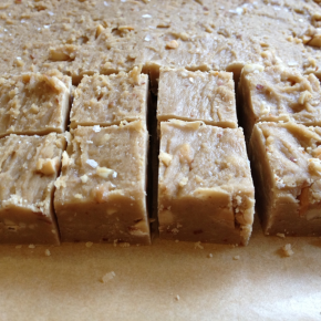 Salted peanut butter fudge