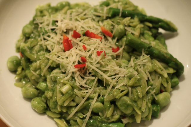 Spring vegetable orzo